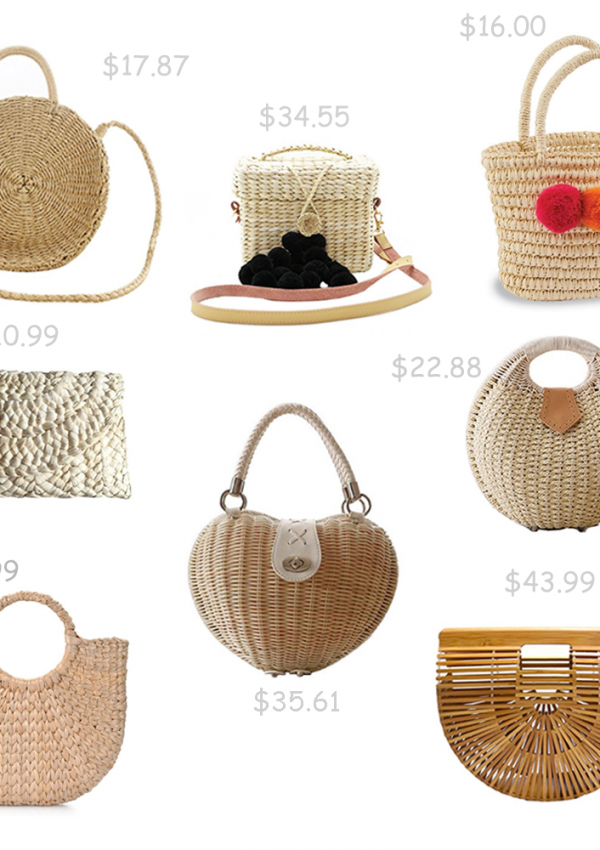 Eight Straw Bags Under $45.00