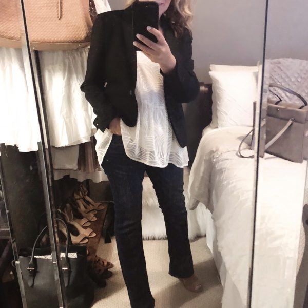 Desk to Dinner Look in a Snap